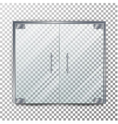 glass door transparent  clear glass door vector image