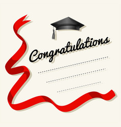 Card template with congratulations word vector
