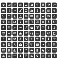 100 software icons set black vector