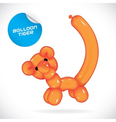 Glossy balloon tiger vector