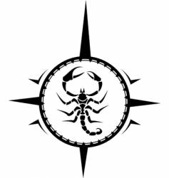 Scorpion tattoo vector