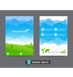 Flyer brochure background template 0002 vector