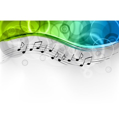 Green and blue melody background vector