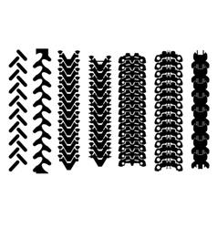 tracks vector image