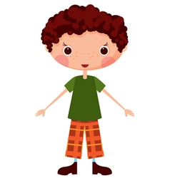 cartoon boy vector image