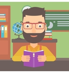 Man reading book vector