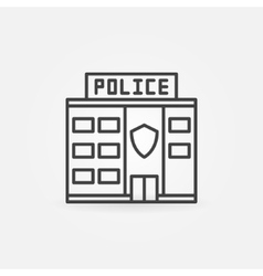 Police station building icon vector