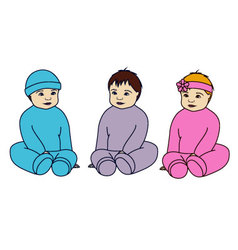 Babies-colorful-converted vector