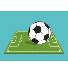 ball and league of soccer sport design vector image