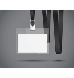 black lanyard vector image vector image