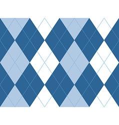 Blue argyle seamless pattern vector