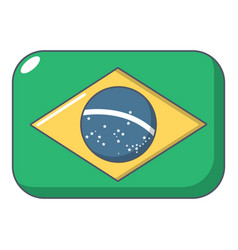 brazilian flag icon cartoon style vector image