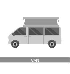 camper van icon vector image