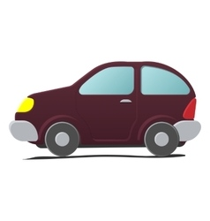 Cartoon little car vector image vector image