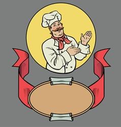Chef in retro style vector image