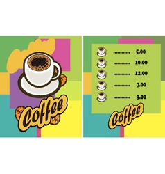 coffee cup Menu vector image vector image
