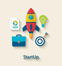 Concept of new business project startup vector