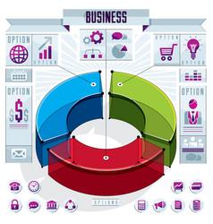 Creative infographics conceptual composition 3d vector