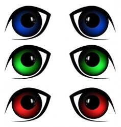 eyes illustration vector image vector image