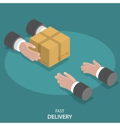 Fast goods delivery flat concept vector image