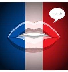 French language concept vector image