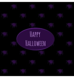 Happy Halloween on a dark background with spiders vector image