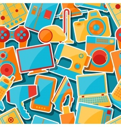 Home appliances and electronics seamless patterns vector image vector image