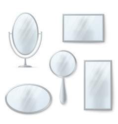 isolated mirrors with reflexion set vector image vector image