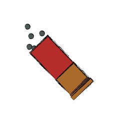 isolated shotgun bullet vector image