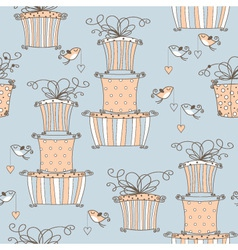 lovely seamless pattern vector image vector image