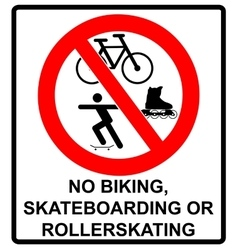 No roller blade scooter roller skater or vector image vector image
