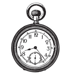 old pocket watch vector image vector image