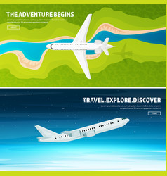 Plane travel and tourism airplane aviation vector