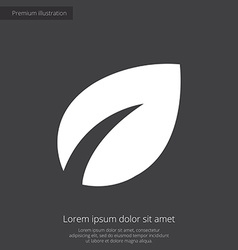 Plant premium icon white on dark background vector
