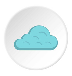 Rainy cloud icon circle vector