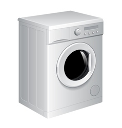 Realistic washing machine vector image