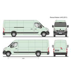 Renault master l4h2 2011 vector