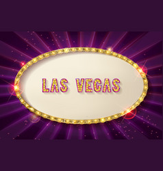 Retro frame with five stars las vegas vector
