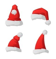 Santa christmas hat vector image vector image