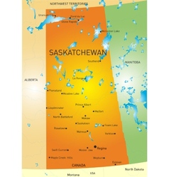 Saskatchewan province map vector image