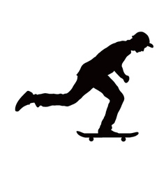 skateboard black color vector image