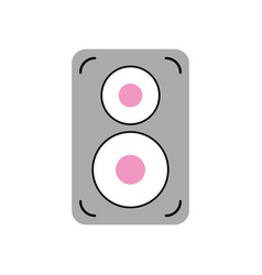 Speaker audio isolated icon vector