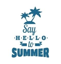 Summer emblem badge vector image