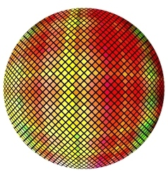 Yellow-orange mosaic ball vector image