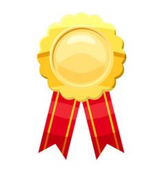 Gold award ribbon icon cartoon style vector