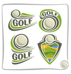 Logo golf ball vector