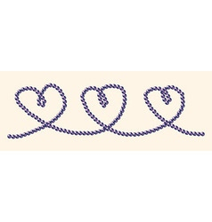 Hearts on a string vector