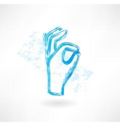 ok grunge icon vector image