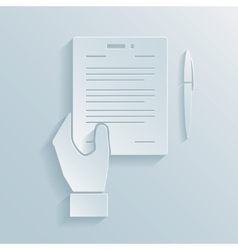 Paper icon of a business offer vector