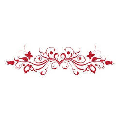 Decorative floral garnish vector